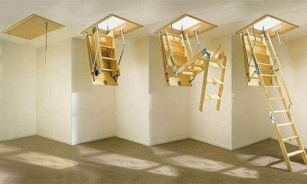 Лестница чердачная раскладная