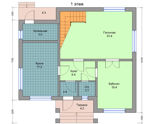 Загородный двухэтажный дом пригодный для круглогодичного проживания
