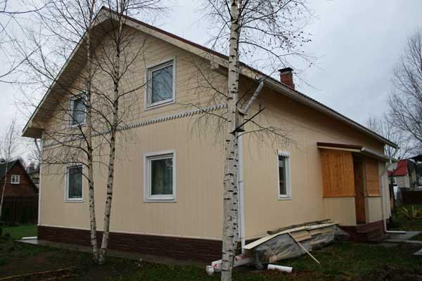 Строительство каркасного дома в
